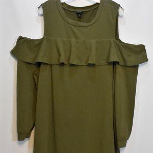 Torrid Olive Green Cold Shoulder Dress 3